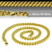 Gold Plated Curb Cuban Link Chain