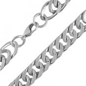 Flat Curb Cuban Link Chain