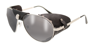 Aviator Shiny Silver<BR>Smoke Lenses